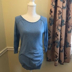 Motherhood Maternity Size M Tunic Shirt Blue